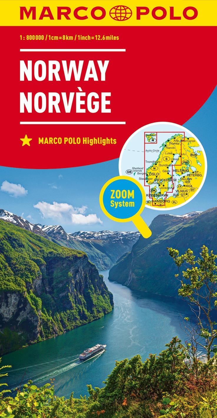Cartina Norvegia Stradale.Carta Stradale Norvegia
