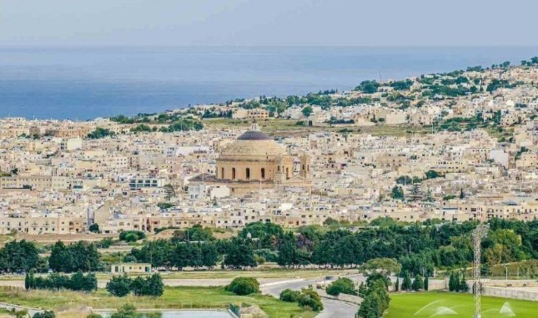 Malta, panorama della cittadina di Mosta
