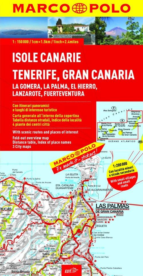 Tenerife Cartina Stradale.Carta Stradale Isole Canarie