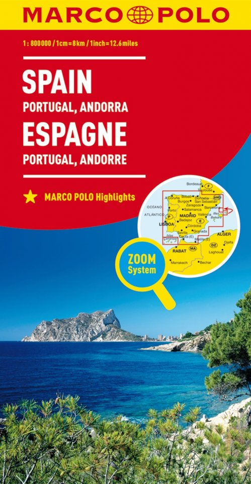 Saragozza Spagna Cartina Geografica.Carta Stradale Spagna Portogallo
