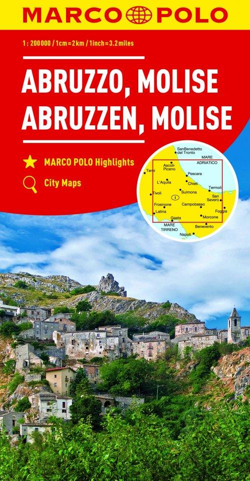 Cartina Stradale Abruzzo Molise.Carta Stradale Abruzzo Molise